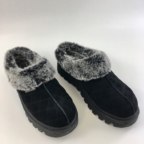 2018 sneakers best prices select for genuine SKECHERS Faux Fur Lined Clogs Mules
